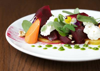 Miradoro Restaurant at Tinhorn Creek Vineyards in Oliver, BC Beet Salad DiRoNA Awarded Restaurant