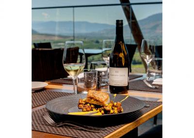 Miradoro Restaurant at Tinhorn Creek Vineyards in Oliver, BC Brown Butter Roasted Halibut DiRoNA Awarded Restaurant