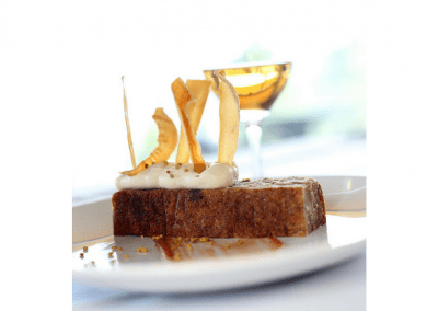 Miradoro Restaurant at Tinhorn Creek Vineyards in Oliver, BC Parsnip Cake DiRoNA Awarded Restaurant