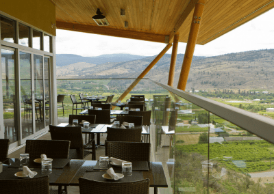 Miradoro Restaurant at Tinhorn Creek Vineyards in Oliver, BC Terrace DiRoNA Awarded Restaurant