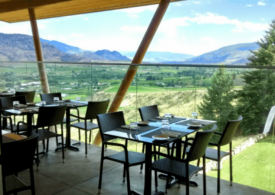 Miradoro Restaurant at Tinhorn Creek Vineyards in Oliver, BC The View DiRoNA Awarded Restaurant