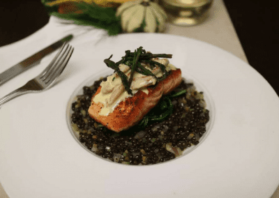 360 The Restaurant at the CN Tower in Toronto, ON Atlantic Salmon DiRoNA Awarded Restaurant