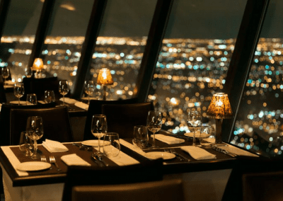 360 The Restaurant at the CN Tower in Toronto, ON City View at Night DiRoNA Awarded Restaurant