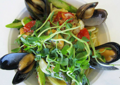 360 The Restaurant at the CN Tower in Toronto, ON Mussels DiRoNA Awarded Restaurant