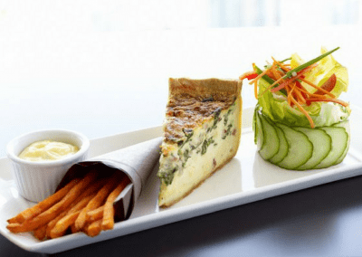 360 The Restaurant at the CN Tower in Toronto, ON Quiche DiRoNA Awarded Restaurant