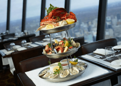 360 The Restaurant at the CN Tower in Toronto, ON Seafood Tower DiRoNA Awarded Restaurant