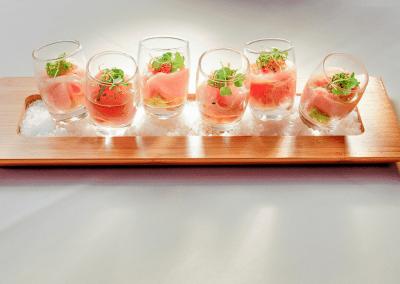 Alexander's Steakhouse in Cupertino, CA Hamachi Shots DiRoNA Awarded Restaurant