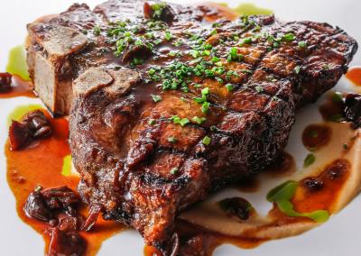 Alexander's Steakhouse in Cupertino, CA Porterhouse Steak DiRoNA Awarded Restaurant