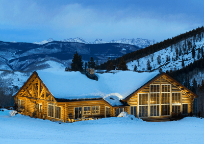 Beano's Cabin in Avon, CO Winter Exterior DiRoNA Awarded Restaurant