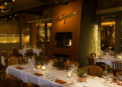 La Toque in Napa, CA Dining Room with Fireplace DiRoNA Awarded Restaurant