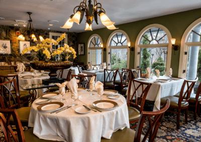 Bedford Village Inn in Bedford, NH Porch DiRoNA Awarded Restaurant
