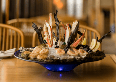 Beverly's at The Coeur d'Alene Resort in Coeur d'Alene, ID Seafood Tower DiRoNA Awarded Restaurant