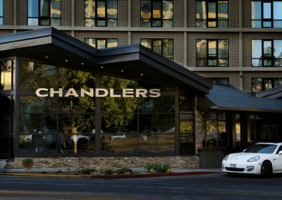 Chandlers Steakhouse in Boise, ID Entrance DiRoNA Awarded Restaurant