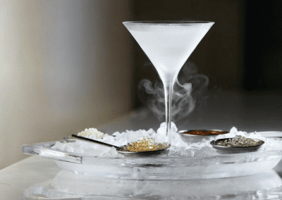 Don Alfonso 1890 in Toronto, ON Frozen Martini Glass DiRoNA Awarded Restaurant