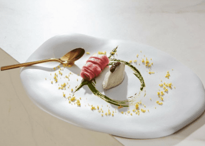 Don Alfonso 1890 in Toronto, ON Ice Creamed Eel with Sturgeon Caviar DiRoNA Awarded Restaurant