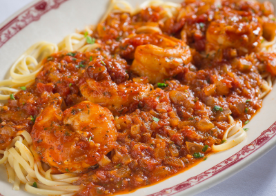 Gene & Georgetti in Chicago, IL Shrimp Diavolo DiRoNA Awarded Restaurant