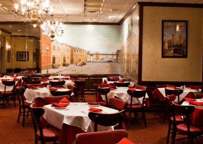 Gene & Georgetti in Chicago, IL Wall Mural DiRoNA Awarded Restaurant