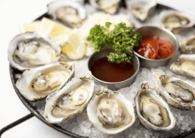 Splash Seafood Bar & Grill in Des Moines, IA Oysters on the Half Shell DiRoNA Awarded Restaurant