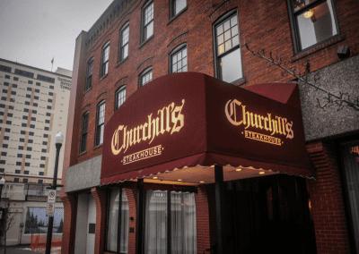 Churchill's Steakhouse Spokane, WA Exterior DiRoNA Awarded Restaurant
