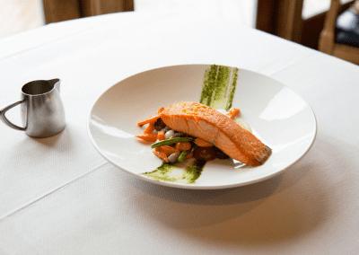 Glitretind Restaurant at Stein Eriksen Lodge in Park City, UT Salmon DiRoNA Awarded Restaurant