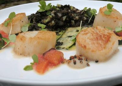 Hyeholde Restaurant in Coraopolis, PA Scallops DiRoNA Awarded Restaurant