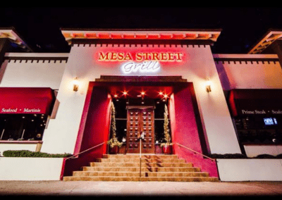 Mesa Street Grill in El Paso, TX Entrance DiRoNA Awarded Restaurant