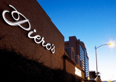 Piero's Italian Restaurant in Las Vegas, NV Entrance DiRoNA Awarded Restaurant