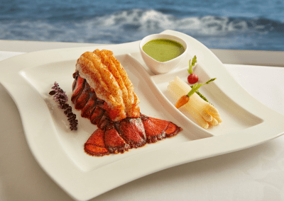 The Marine Room at La Jolla Beach & Tennis Club in La Jolla, CA Lobster Tail DiRoNA Awarded Restaurant