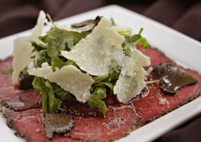 Verdicchio Ristorante Enoteca in Sudbury, ON _ Beef Carpaccio_ DiRoNA Awarded Restaurant